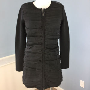 Helios & Luna Anthro cardigan Black Wool Silk XS S